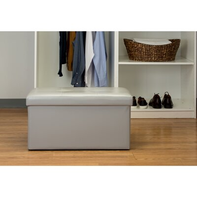 Ridgedale Double Folding Storage Ottoman Upholstery: Gray