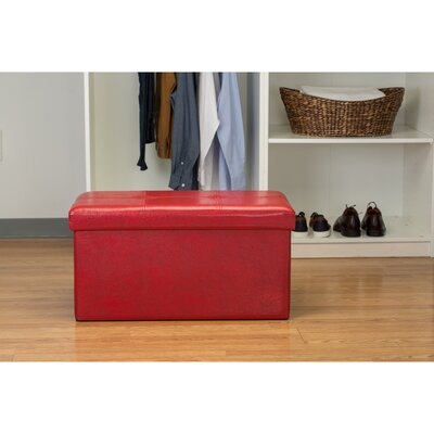 Ridgedale Storage Ottoman Upholstery: Red