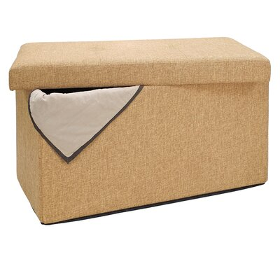 Ridgedale Double Folding Storage Ottoman Upholstery: Camel