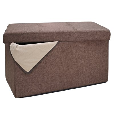 Ridgedale Double Folding Storage Ottoman Upholstery: Espresso
