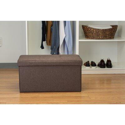 Ridgedale Double Folding Storage Ottoman Upholstery: Espresso