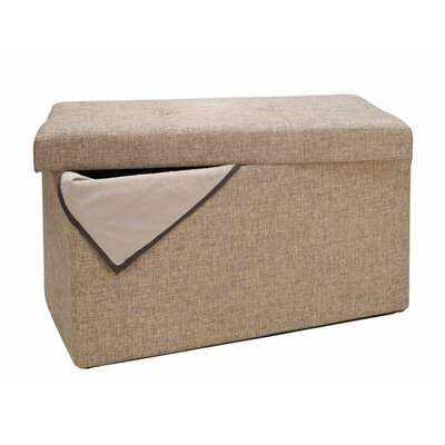 Ridgedale Double Folding Storage Ottoman Upholstery: Natural
