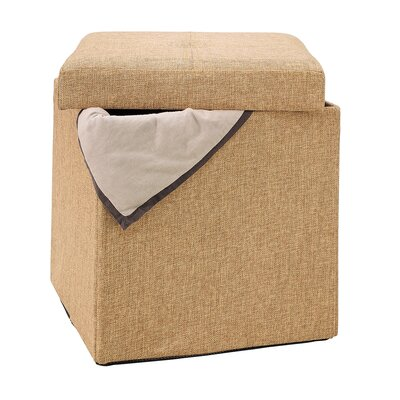 Rockville Single Folding Upholstered Storage Ottoman Upholstery: Camel