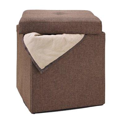 Rockville Single Folding Upholstered Storage Ottoman Upholstery: Espresso