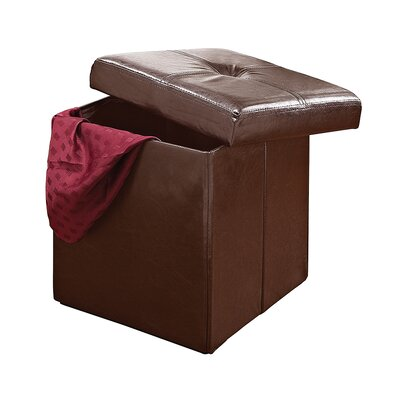 Rockville Single Folding Upholstered Storage Ottoman Upholstery: Chocolate