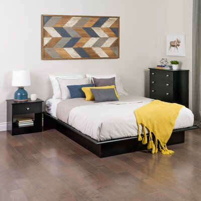 Roselawn Platform Bed Size: Full, Color: Black
