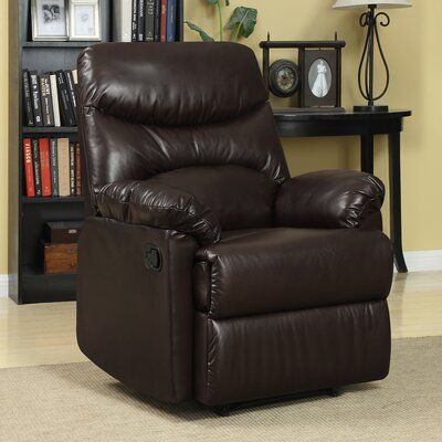 Rossville Chaise Recliner Upholstery: Brown