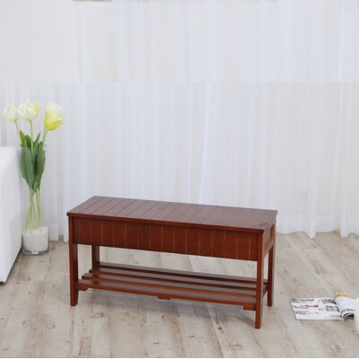 Rumford Wood Storage Entryway Bench Color: Cherry
