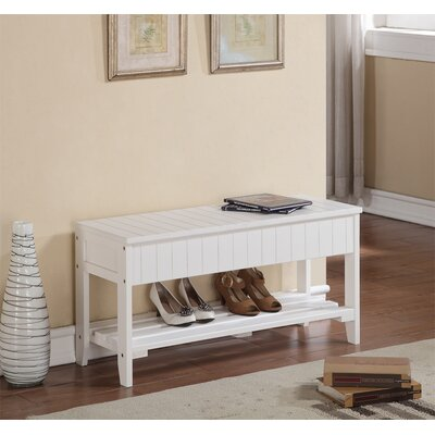 Rumford Wood Storage Entryway Bench Color: White