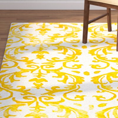 Millie Hand-Tufted Ivory/Gold Area Rug Rug Size: 9 x 12