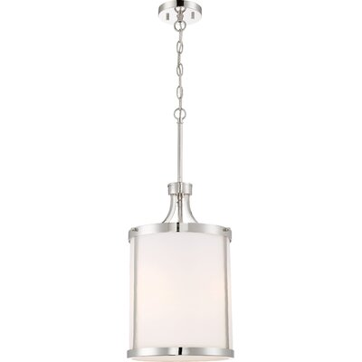 Sanderson 3-Light Drum Pendant Finish: Polished Nickel
