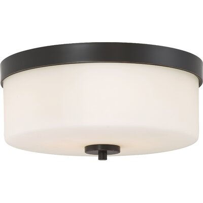 Sanderson 2-Light Flush Mount Finish: Mahogany Bronze