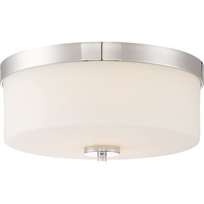 Sanderson 2-Light Flush Mount Finish: Polished Nickel