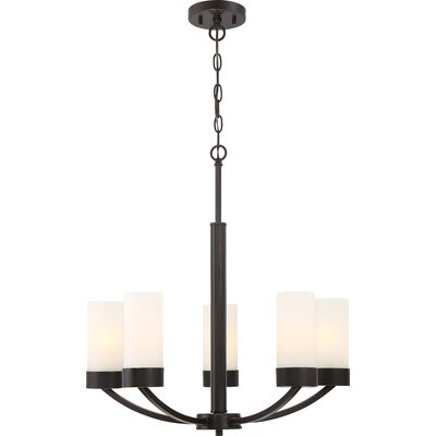 Sanderson 5-Light Shaded Chandelier Finish: Bronze
