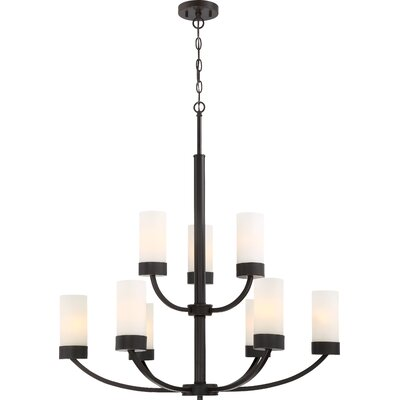 Sanderson 9-Light Shaded Chandelier Finish: Bronze