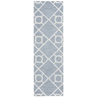 Zora Hand-Tufted Blue Area Rug Rug Size: Runner 26 x 10