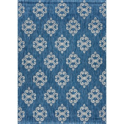 Bella Transitional Indigo Indoor/Outdoor Area Rug Rug Size: Rectangle 53 x 73