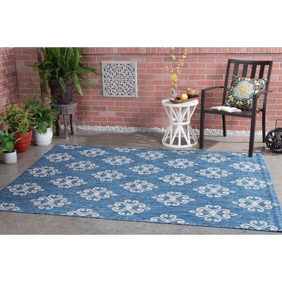 Segera Transitional Indigo Indoor/Outdoor Area Rug Rug Size: 67 x 96