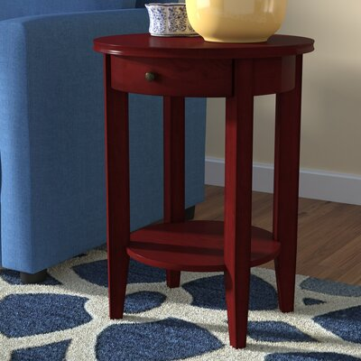 Kerry 1 Drawer End Table Color: Cherry