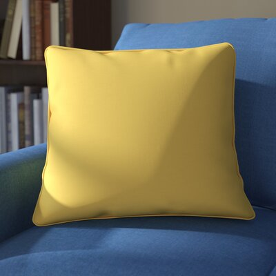 Weymouth Outdoor Throw Pillow Color: Yellow