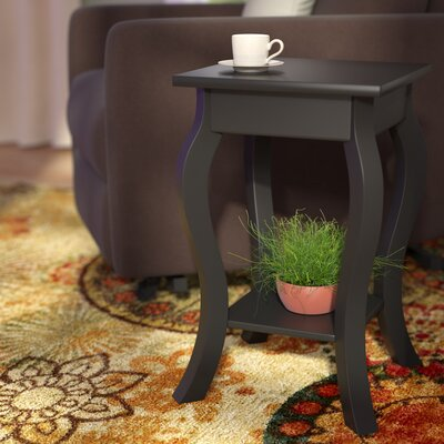 Nathaniel End Table Finish: Black