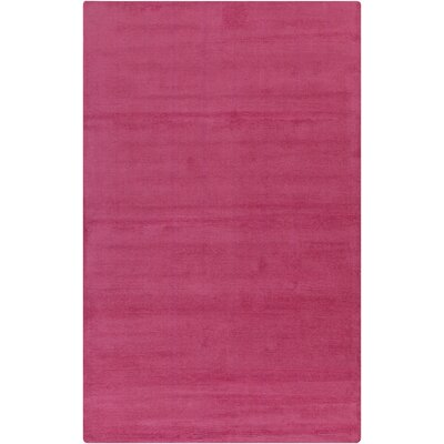 Maryport Magenta Solid Area Rug Rug Size: 9 x 13