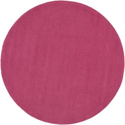 Naples Hand Woven Magenta Area Rug Rug Size: Round 6