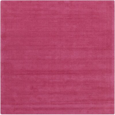 Naples Hand Woven Magenta Area Rug Rug Size: Square 99