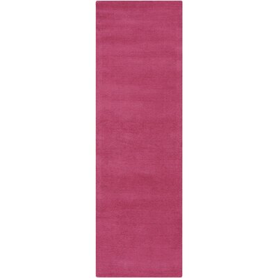 Maryport Magenta Solid Area Rug Rug Size: Runner 26 x 8