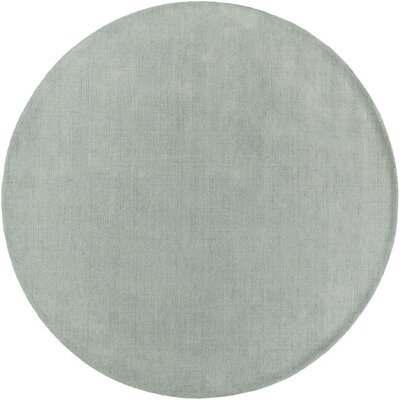 Maryport Mint Solid Area Rug Rug Size: Round 99