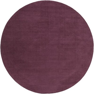 Bradley Eggplant Solid Area Rug Rug Size: Round 8