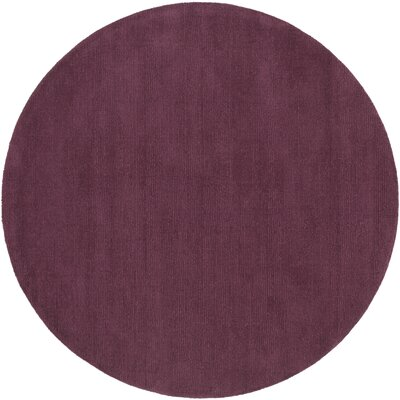 Maryport Eggplant Solid Area Rug Rug Size: Round 6