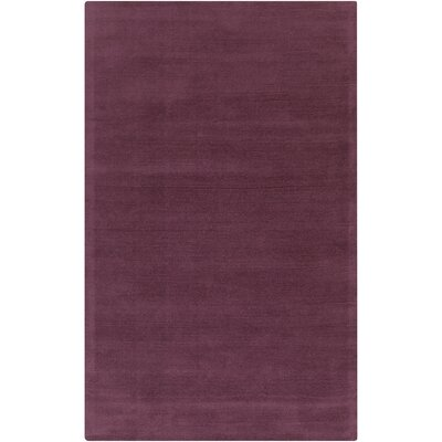 Maryport Eggplant Solid Area Rug Rug Size: 33 x 53