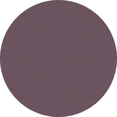 Naples Hand Woven Mauve Area Rug Rug Size: Round 8