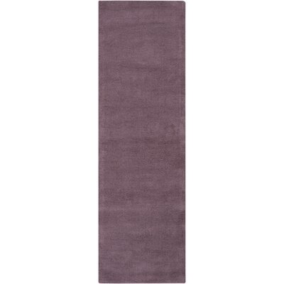 Naples Hand Woven Mauve Area Rug Rug Size: Runner 26 x 8