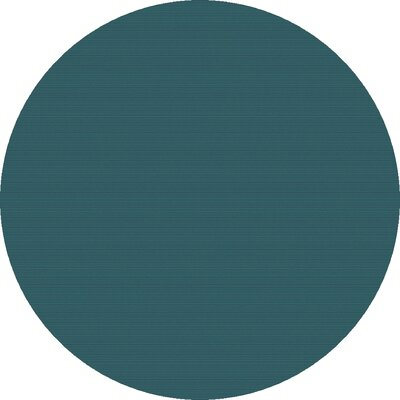 Naples Hand Woven Teal Area Rug Rug Size: Round 99