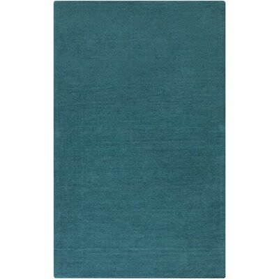 Naples Hand Woven Teal Area Rug Rug Size: Rectangle 76 x 96