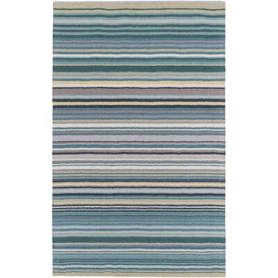 Bradley Stripe Area Rug Rug Size: Rectangle 33 x 53