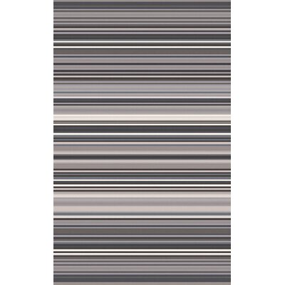 Bradley Gray Stripe Area Rug Rug Size: Rectangle 33 x 53