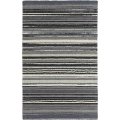 Bradley Gray Stripe Area Rug Rug Size: Rectangle 2 x 3
