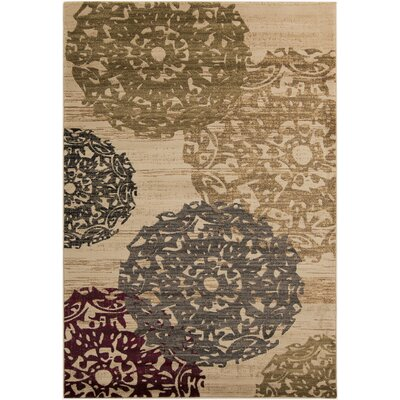 Acres Beige Rug Rug Size: Rectangle 53 x 76