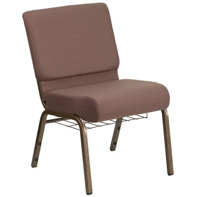 Alvera Book Rack Dot Fabric Guest Chair