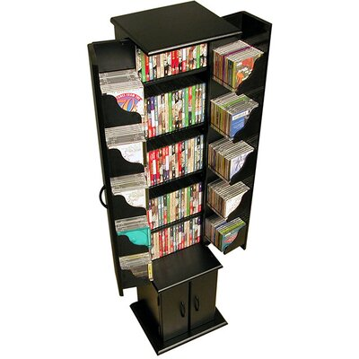 CD / DVD Wood Multimedia Cabinet Finish: Black
