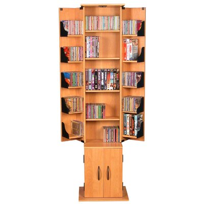 CD / DVD Wood Multimedia Cabinet Finish: Oak