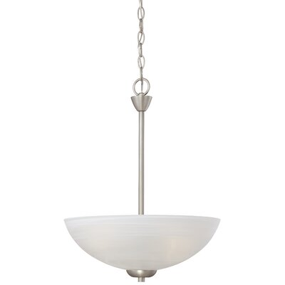 Sheldrake 3-Light Inverted Pendant Finish: Matte Nickel