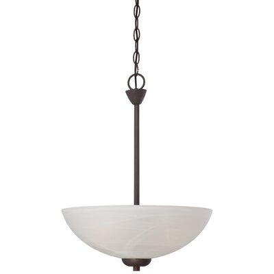 Sheldrake 3-Light Inverted Pendant Finish: Painted Bronze