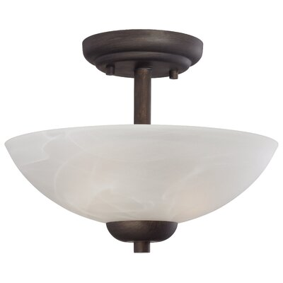 Sheldrake 2-Light Inverted Pendant Finish: Painted Bronze