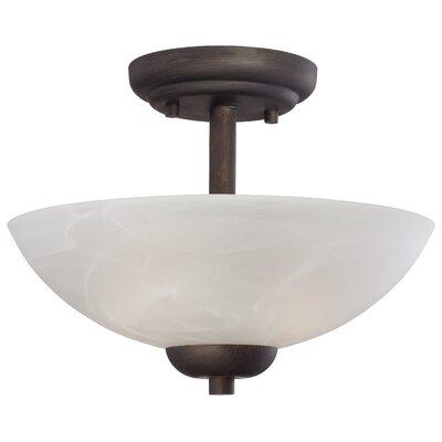 Sheldrake 2-Light Inverted Pendant Finish: Painted Bronze