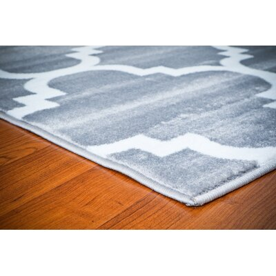 Shelley Gray Area Rug Rug Size: 52 x 72