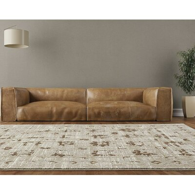 Shillington Beige/Cream Indoor/Outdoor Area Rug Rug Size: 5' x 7'